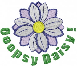Ooopsy Daisy embroidery design