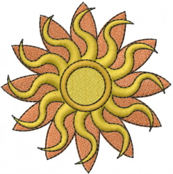 Flower in Sun embroidery design