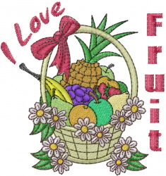 Fruit Basket embroidery design