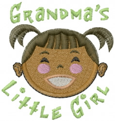 Grandmas Little Girl embroidery design