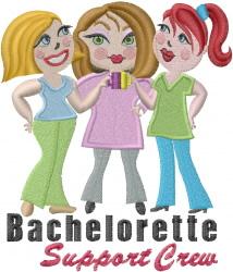 Bachelorette Support embroidery design