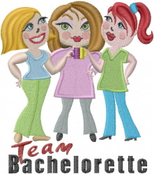 Bachelorette Team embroidery design