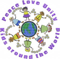 Peace Love Unity embroidery design