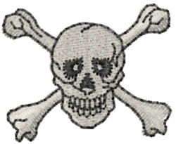 Skull Crossbones embroidery design