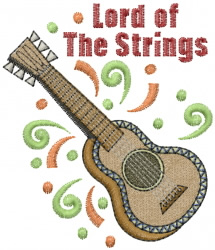 Guitar Strings Lord embroidery design