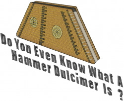 Hammer Dulcimer embroidery design