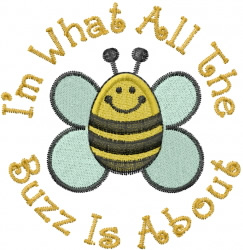 Bumble Bee Buzz embroidery design