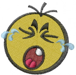 Crying Baby Face embroidery design
