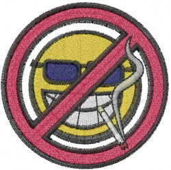 Smoking Not Permitted embroidery design