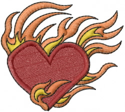 Heart from Hell embroidery design