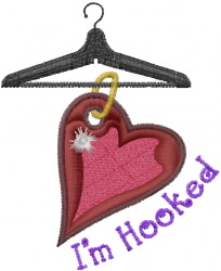 I am Hooked embroidery design