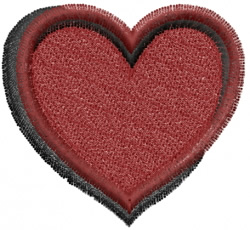 Velntines Heart embroidery design