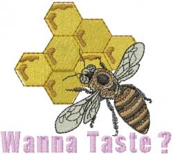 Wanna Taste Honey embroidery design