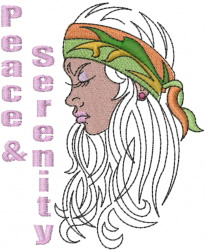 Peace & Serenity embroidery design