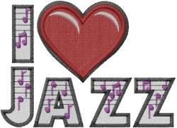 Jazz Heart embroidery design