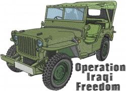Iraqi Freedom Jeep embroidery design