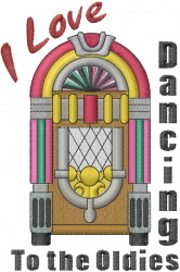 Oldies Dancing embroidery design