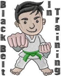 Karate Black Belt embroidery design