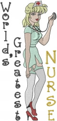Worlds Greatest Nurse embroidery design