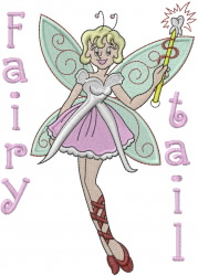 Fairy Tail embroidery design