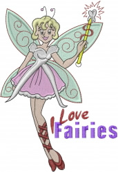 Tooth Fairy Love embroidery design