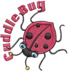 Ladybug Cuddle Bug embroidery design