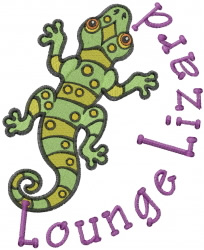 Lounge Lizard embroidery design