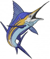 Marlin embroidery design
