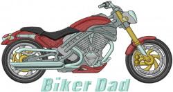 Biker Dad embroidery design