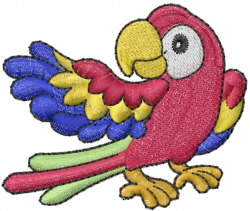 Parrott Macaw embroidery design