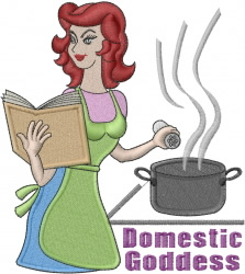 Domestic Goddess embroidery design