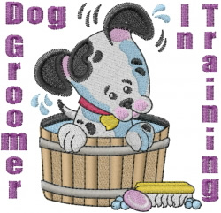 Dog Groomer embroidery design