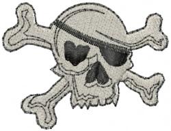 Skull Half Head embroidery design