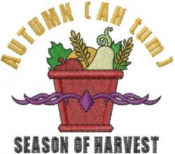 Season of Harvest embroidery design