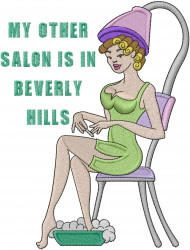Beauty Shop Lady embroidery design