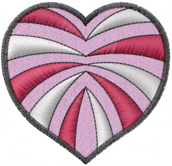 Color Heart embroidery design