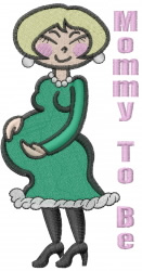 Mommy to Be embroidery design