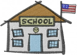 Stick School embroidery design