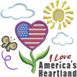 Americas Heartland embroidery design