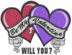 Be My Valentine? embroidery design
