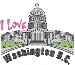 Washington DC embroidery design