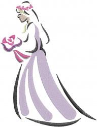 Wedding Bride embroidery design