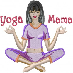 Yoga Mama embroidery design