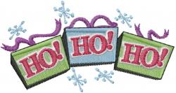 Christmas Ho Ho Ho embroidery design