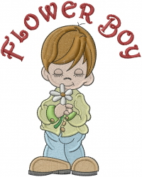 Flower Boy embroidery design