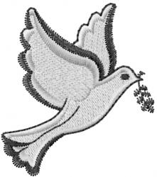 Dove Peace embroidery design