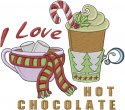 Holiday Hot Choclate embroidery design
