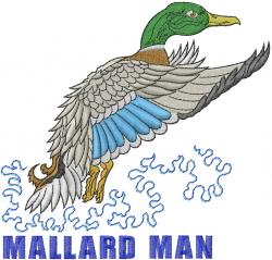 Mallard Man embroidery design