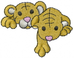 Noahs Lion Cubs embroidery design