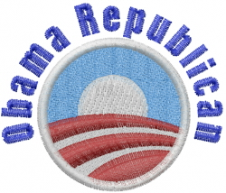 Obama Republican Logo embroidery design